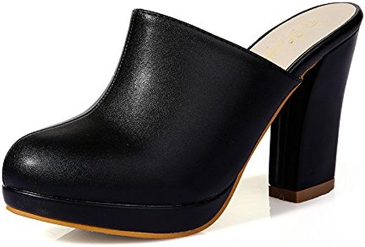 Qingchunhuangtang@ Baotou Female High-Heeled chaussures Cool Pantoufles