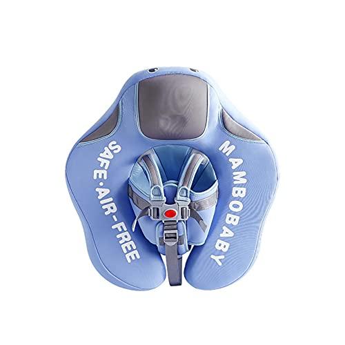 Baby Schwimmring Schwimmen nicht aufblasbare, Baby-Schwimmen-Schwimmring mit Einstellbare Sicherheitsgurt, Anti-Rollover kann mit Markise Schwimmringen Training for Badewanne & Schwimmbäder(Blau)