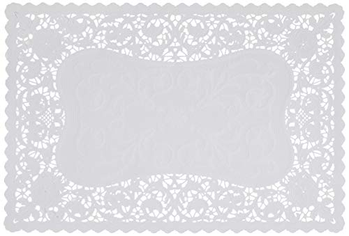 Royal 24010 French Lace Rectangular Paper Placemats, 9.75 x 14.5 Inches, Pack of 16 (24009)