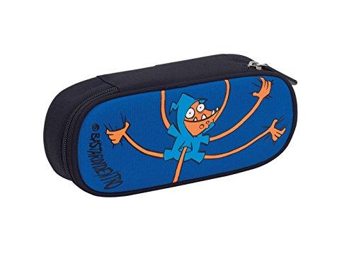 Bustina Round Plus BASTARDIDENTRO VIS , Blu Arancione , Scomparto attrezzato per penne, multicolore, poliestere