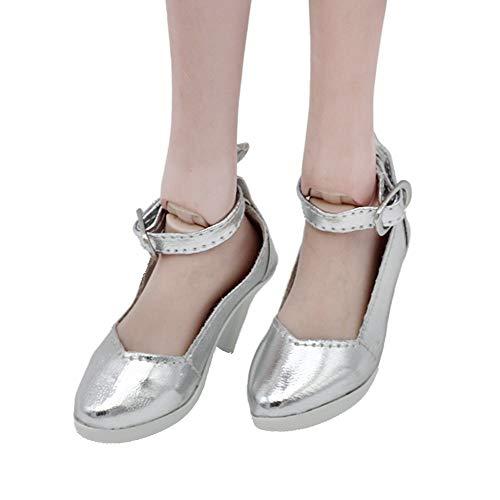 Uteruik BJD Puppe High Heel Schuhe für 1/3 60 cm/24 Zoll SD Puppe Casual Outfits Kostüm Zubehör, 1 Paar #a