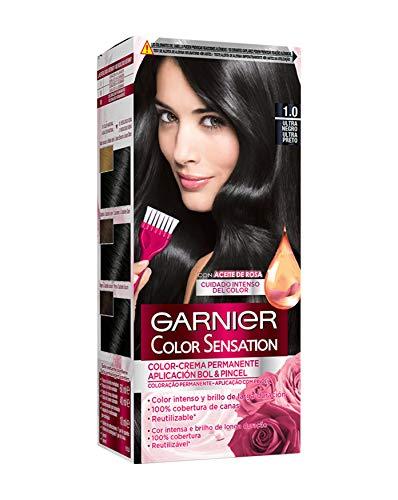 Garnier Color Sensation - Tinte Permanente Ultra Negro 1.0, disponible en más de 20 tonos