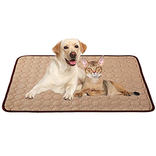 Cooling Mat for Dogs Cats, Dog Cooling Mat Pet Self Cooling, Dog Cooling Pad Dog Cooling Supplies Cooling Mat, Pet Indoor/Outdoor Summer Pet Cooling Mat Dog Cat Bed Mats 40x28 Coffee
