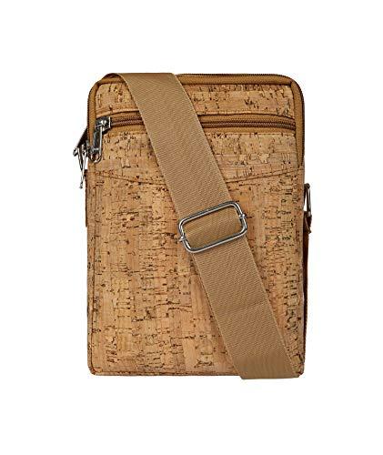 Designer Hudson & James London Men Ladies Cork Vegan Leather Tote Cross Body Messenger Shoulder Handbag Bag (Style 2)