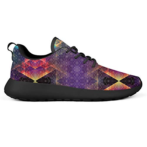 YUMIA Trippy Psychedelic Glass Seamless Girls and Man Tennis Shoes Best Running Shoes Comfortable