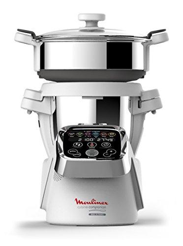 Moulinex HF802AA1 Cuisine Companion Robot de Cocina Multifunción Robot + Vaporera [Versión Italiana]