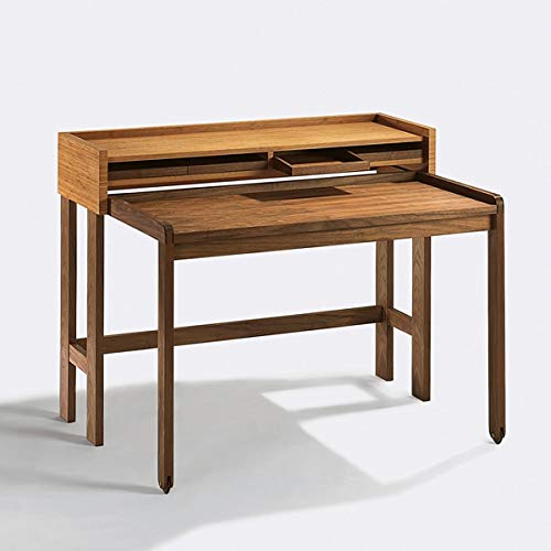 Lambert - Modesto - Schreibtisch - Sekretär - Walnuss + Bambus - 120 x 58cm