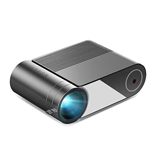 """Portable Outdoor Movie/ Indoor Theater WiFi Projector-1080p Resolution-30,000 Hour LED/LCD Lamp -150"""" Screen –Compatible with Android, iPhone, HDMI, USB, VGA, AV, Audio-Black"""