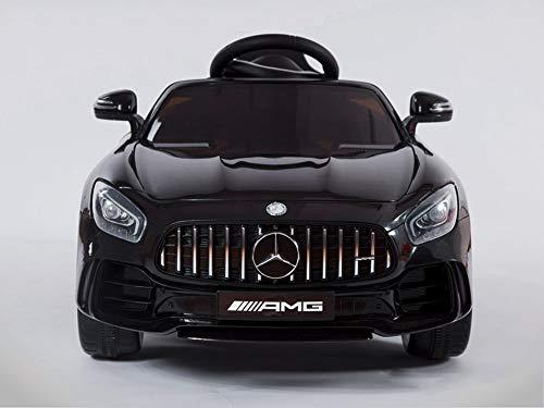 KINGTOYS - Auto elettrica per bambini, Mercedes GT-R AMG, 70 W, colore: nero