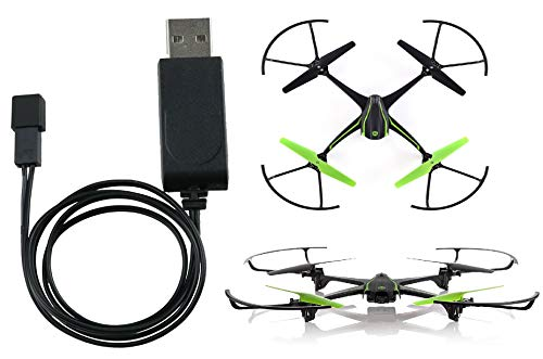 Sky Viper Drone Compatible Battery USB Charger. It Works for Sky Viper Stunt Quadcopter, Scout, Furry, Camera Drone, X-Quad, s670 Stunt, v950HD/STR, s1700/1750, v2400HD/FPV, v2450FPV and Hover Racer