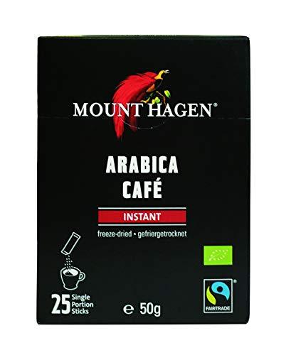 Mount Hagen Arabica-Kaffee-Sticks mit Instant-Kaffee (50 g) - Bio