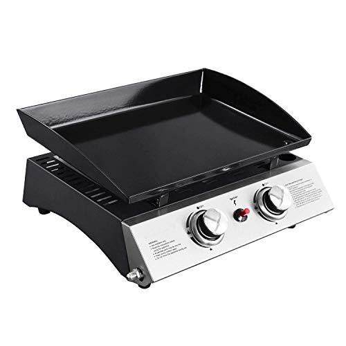 BENEFFITO Cooker - Plancha a Gas II - Acero Laminado en frío esmaltado - Quemadores de Acero Inoxidable - Cocción homogénea y Sabrosa - 2 Quemadores 75 KW