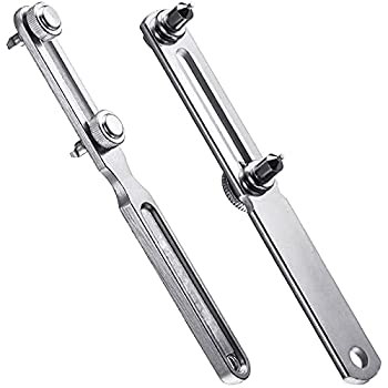 2 Piece Adjustable Watch Back Case Opener Kit Stainless Steel 58 mm and 50 mm Alloy Wrench Type Watch Back Cover Opener Watch Back Remover Tool for Battery Replacement Watch Repair