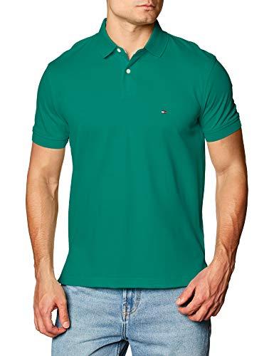 Tommy Hilfiger 1985 Regular Polo Camisa, Courtside Verde, M para Hombre