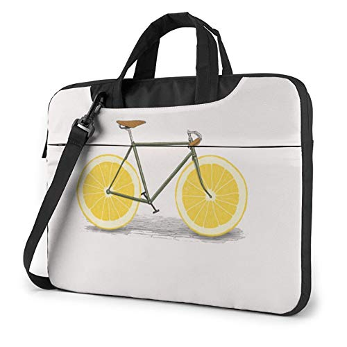 Funda para portátil, diseño de cola de sirena, multifunción, para portátil, 13-14-15.6 pulgadas, Bicicleta naranja (Azul) - 259841