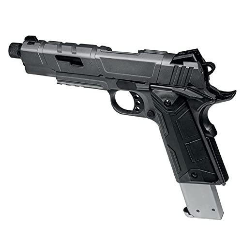 Pistola Airsoft GBB 1911 Rossi Redwings Grey Color Gris réplica Escala 1:1 Potencia 1 Julio 6 mm Cargador extendido Incluido