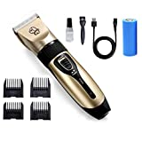 ICOUVA <span class='highlight'>Dog</span> <span class='highlight'>Clippers</span>, <span class='highlight'>Professional</span> Cordless Low Noise Rechargeable <span class='highlight'>Pet</span> <span class='highlight'>Grooming</span> Trimmer Hair Electric Shaver Kit with 4 Comb Guides scissors for <span class='highlight'>Dog</span>s, Cats and Other Animals