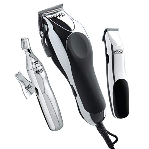 Wahl Clipper Home Barber Kit Model 79524-3001, Electric Clipper, Touch Up Trimmer & Personal Groomer – 30 Piece Kit for Professional Style Haircutting at Home