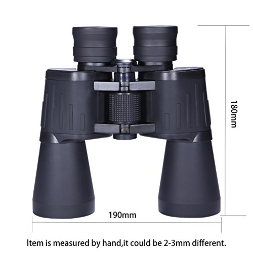 SCOKC Binoculars for Adults 10x50 Bird Watching with Low Light Night Vision Stargazing Outdoor Sightseeing Climbing Traveling Sport Game Concerts,Durable Portable and Fully Coated Lens … (10x50)