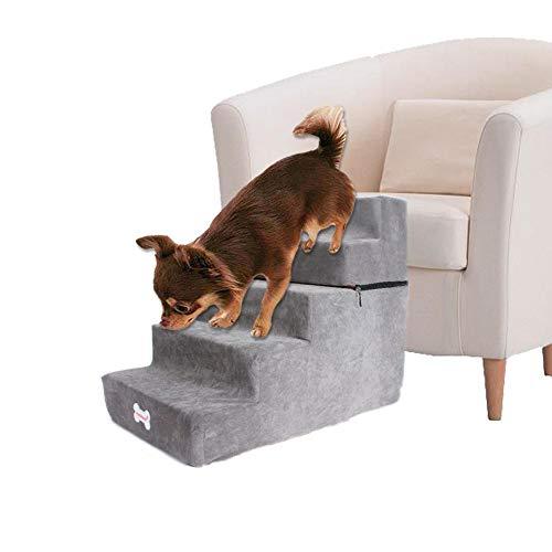 Escalera para escaleras para Perros, 2020, Nueva Escalera Desmontable de 5 Niveles para Mascotas, Escalera para sofá Cama extraíble y Transpirable para Perros, Gatos, Espuma de Alta Densidad