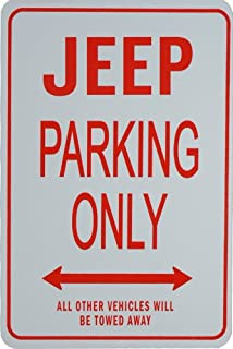 Jeep Parking ONLY - Miniature Fun Parking Signs