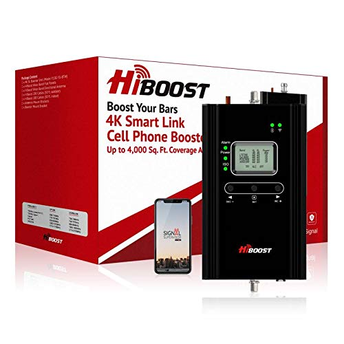 HiBoost Cell Phone Signal Booster for Home, Up to 4,000 sq ft, Support All US Carriers-Verizon,...