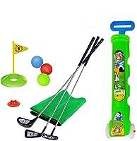 ゴルフ子供用おもちゃセットゴルフカート付きパッティングマット11ピース