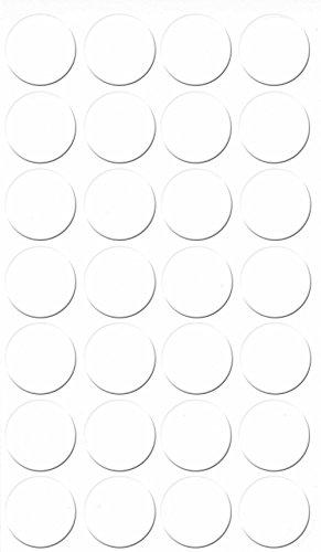 GleitGut Selbstklebende Abdeckkappen für Möbel - Durchmesser 20 mm - 28 Stück - Schrauben-Abdeckungen (Kalt Weiss)