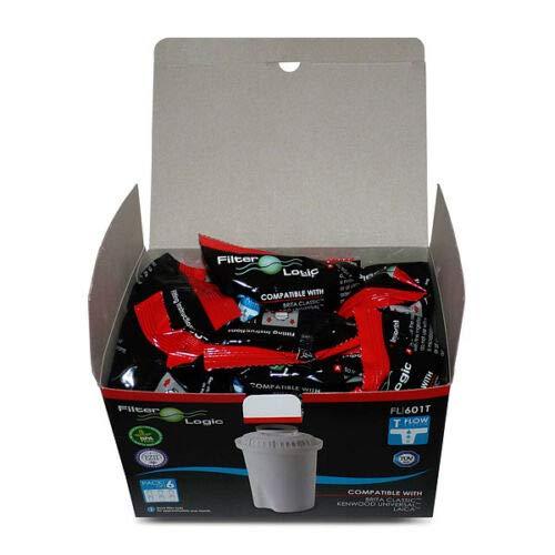 FilterLogic FL601T - 6 unidades - cartucho de filtro compatible con BRITA...