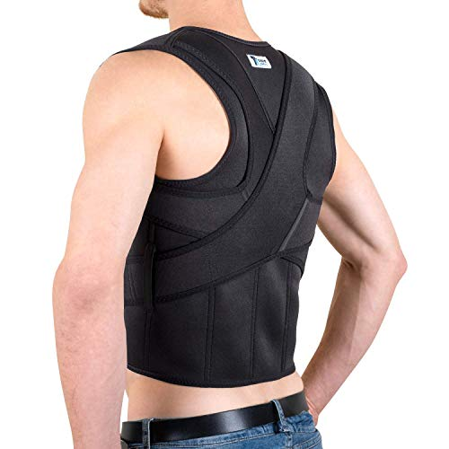 """Back Brace Posture Corrector for Men and Women - The Ultimate and Best Fully Adjustable Support Brace - Improves Posture and Provides Lumbar Support - Lower and Upper Back Pain - L (32""""- 36"""" Waist)"""