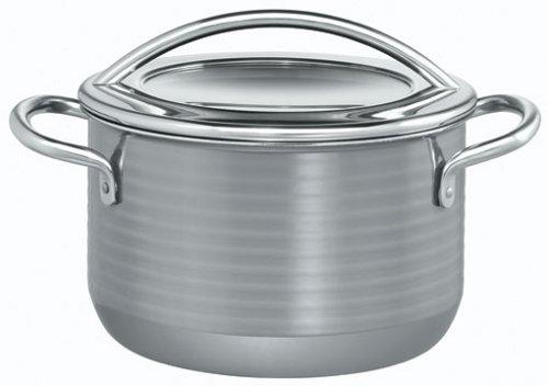 Silit Vision Koch/- Fleischtopf, hoch, 20cm, Metalldeckel, 3,7l, Silargan Funktionskeramik, Topf Induktion, grau