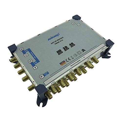 Ankaro PMSE 5/12 Multischalter mit vergoldeten Kontakten/eine Satellitenposition an bis zu 12 Teilnehmer