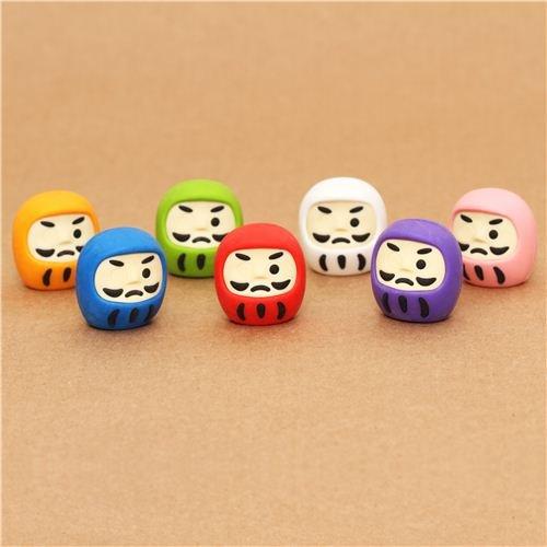 Set gomas de borrar Iwako muñecos daruma 7 unidades Japón