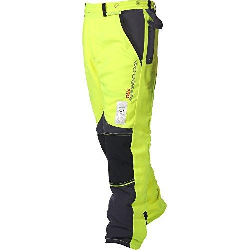WOODSafe Schnittschutzhose Klasse 2, Forsthose, kwf-geprüft, Bundhose gelb/grau, Herren - Waldarbeiterhose mit Schnittschutz Form A, leichtes Gewicht (62)