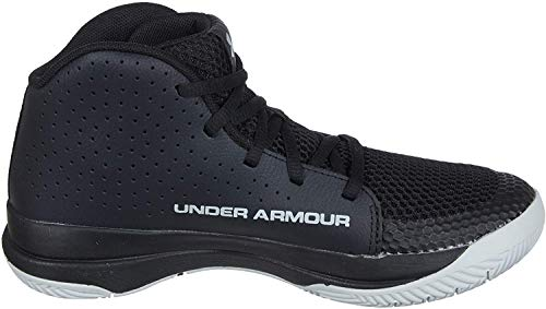 Under Armour Unisex-Kinder UA GS Jet 2019 Basketballschuhe, Schwarz (Black/Black/Halo Gray (001) 001), 35.5 EU