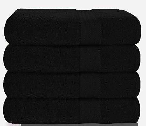 Glamburg Premium Cotton 4 Pack Bath Towel Set -...