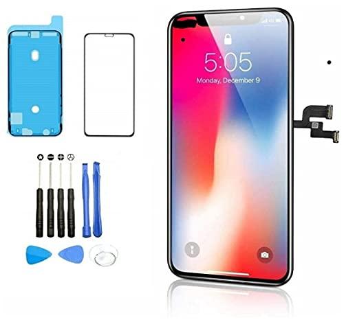 AKHUND COMPITABLE para iPhone X Pantalla OLED de 5.8 pulgadas (GX OLED) [NO LCD] Kit de reparación de digitalizador de pantalla táctil con herramientas de reparación completas