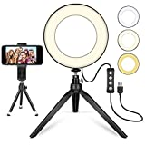 MACTREM LED Ring Light 6' avec trépied pour Selfie/Maquillage Live Stream et...