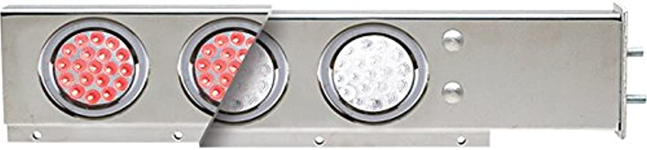 TRUX Accessories Flat Top Semi-Truck Mud Flap Hanger Light Bars with Dual Color LEDs - Pair, Model Number TU-9210L2