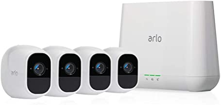 Arlo Technologies Pro 2- 4 Camera System, Work with Alexa, Inbuilt alarm siren, Rechargeable, Wire-Free, 1080p HD, Audio, ...