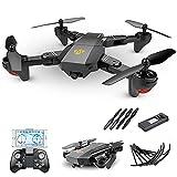 Drone Plegable GPS FPV con cámara HD Video en Vivo, cuadricóptero RC con GPS de Regreso a casa, Sígueme, Control de Gestos, Auto Hover y transmisión WiFi, para Adultos y Principiantes