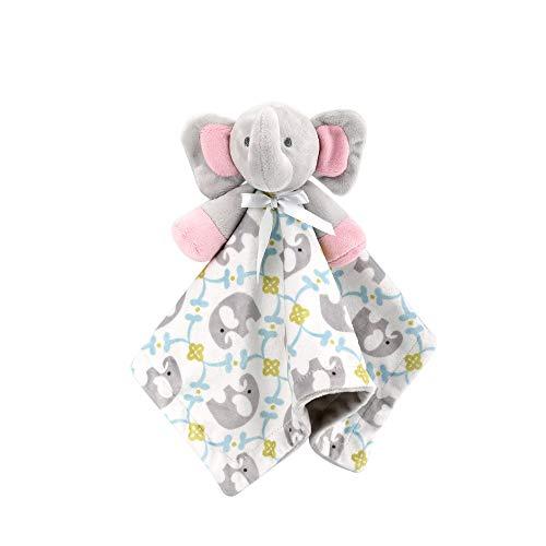 Pink Elephant Blanket jouets pour bébé, Couverture de sécurité apaisants Toy douce peluche Jouets Chiffons Teething serviettes bébé et tout-petits