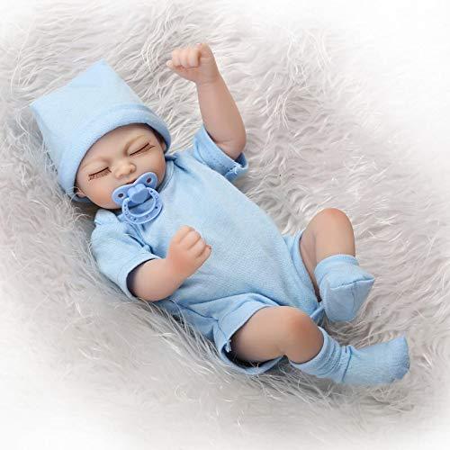 Pinky Reborn Baby Dolls Tiny 10inch Cuerpo Completo Silicona Vinyl Sleeping Reborn Babies Doll Girl Realista Nuevo Renacido Niño Pequeño para Niños Cumpleaños Playmate Growth Partner