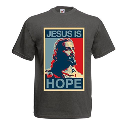 lepni.me Camisetas Hombre ¡Jesús es Esperanza! Religión - Resurrecc