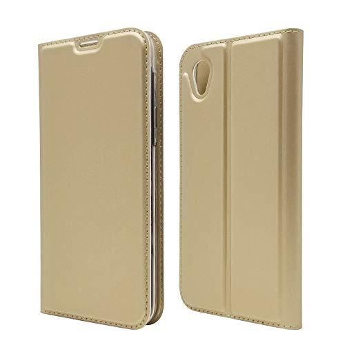 HANARO(ハナロ) AQUOS sense2 手帳型 財布 ケース 携帯 カバー Cover ベルトなし 柔らかい材質 クラシック PUレザー ケース スリムフォリオ スマート クレジットカードスロット付き スタンドホルダー マグネット アクオス セン
