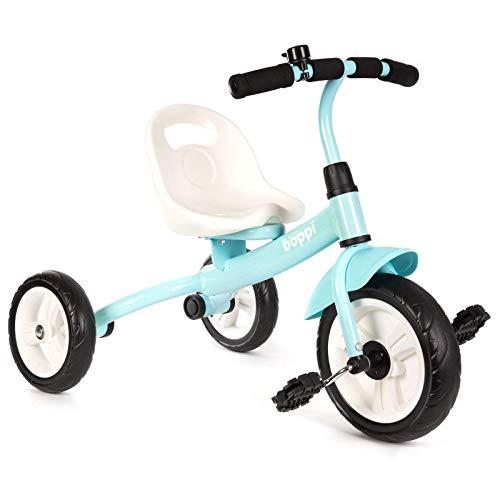 boppi Kinder Dreirad. Kinderdreirad mit Sitz und Pedalen für Kleinkinder in unterschiedlichen Farben