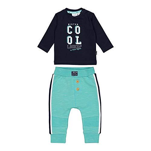 Feetje Chándal de dos piezas Mister Cool para bebé Azul marino-verde menta 80 cm