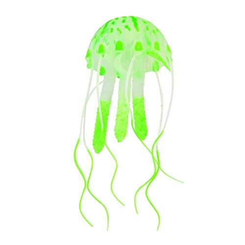 Saim Mini Glow in the Dark Artificial Jellyfish for Fish Tank Decorative Aquarium Ornament (Green) by Saim
