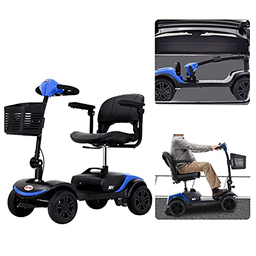HEINSY 4 Wheel Compact Travel Electric Power Mobility Scooter for Adults (FBA) - Max Speed 5 Mph,...