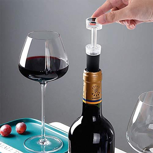 ABRC 2 tapones de silicona para botella de vino, tapón de vacío, tapón de botella, tapón de botella, champán, vino fresco, conservador de corcho, tapón de barra, herramientas #8233577